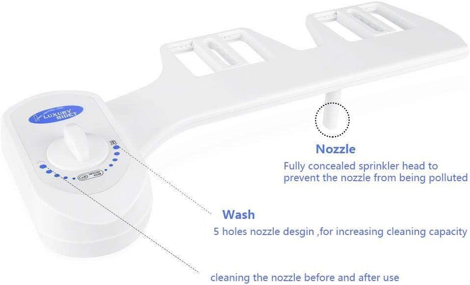 Kit douchette Bidet pour WC vaporisateur d/'eau fra/îche non /électrique pour bidet dispositif d/'eau chaude et froide qui se fixe sur le si/ège de toilette