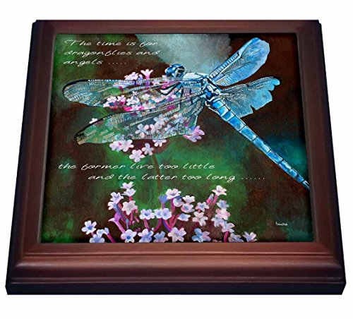 (3dRose trv_128812_1 Gold Embossed Background with Accents and Three Beautiful Butterflies Trivet with Ceramic Tile, 8 by 8