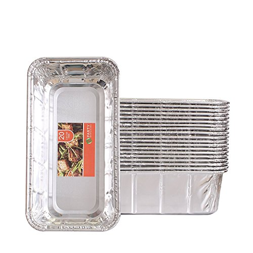 Disposable Pans Loaf (Party Bargains Loaf Pans | Heavy Duty Durable Quality Disposable Aluminum 2Lb Bread Tins | Perfect for Bakery, Homemade Cakes, Meatloaf & Food Serving - 8.5