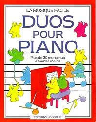 DUOS POUR PIANO PLUS DE 20 MORCEAUX A QUATRE MAINS