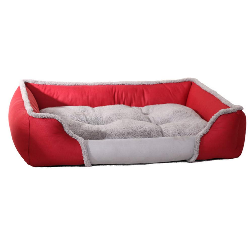 90x69x19cm Mzdpp Warm Dog Bed Pet Nests Breathable Doghouses Removable And Washable Small-X Large 90  69  19Cm