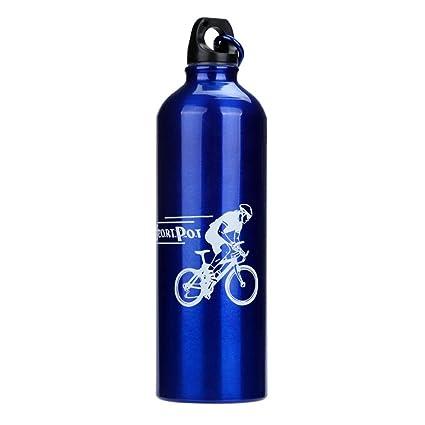 Vovotrade - Nuevo 750ml Ciclismo Bicicleta Deportes Portátil Aleación de Aluminio Líquido Beber Botella de Agua