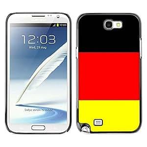 TopCaseStore / la caja del caucho duro de la cubierta de protección de la piel - Germany Flag; - Samsung Galaxy Note 2 N7100