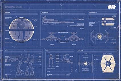 Amazon.com: Star Wars - Movie Poster (Imperial Fleet Blueprint ... on batman schematics, tron schematics, wall-e schematics, terminator schematics, kamen rider schematics, robotech schematics, prometheus schematics, a wing fighter schematics, pneumatic schematics, macross schematics, stargate schematics, star destroyer, pacific rim schematics,