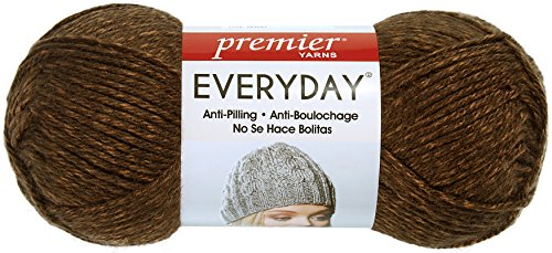 Premier Yarns 110-07 Everyday Soft Worsted Heather Yarn-Cocoa (07 Cocoa)
