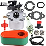 TOPEMAI 796608 Carburetor Replace 593599 591137 595390 590948 798938 for Briggs and Stratton 11P902 111P02 Eingine with 795066 Air Filter,Compatible Husqvarna 775EX Lawn Mower Carb