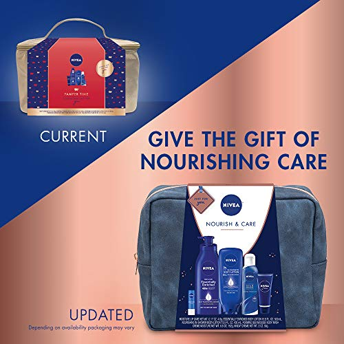51 cLSz%2BpuL - NIVEA Pamper Time Gift Set - 5 Piece Luxury Collection of Moisturizing Products and Travel Bag Included