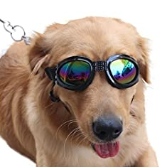 NACOCO Pet Glasses Dog Sunglasses Dog Glasses Golden Retriever Samoyed Sunglasses Goggles Big Dog Sunglasses