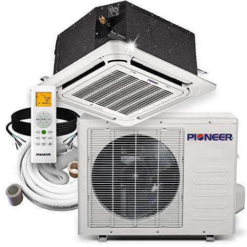 Pioneer Air Conditioner CYB018GMFILCAD 8-Way Compact Cassette Mini-Split Ductless Inverter with Heat Pump, 18000 BTU