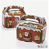 Santa's Workshop Christmas Party Favor Treat Boxes