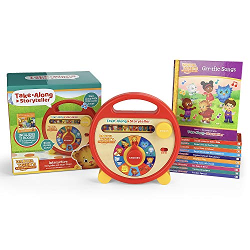 Daniel Tiger's Neighborhood Interactive Electronic Take Along Storyteller with 11 books (Daniel Tiger's Neighborhood Children's Interactive Story and Song Carry Along Player With Books)