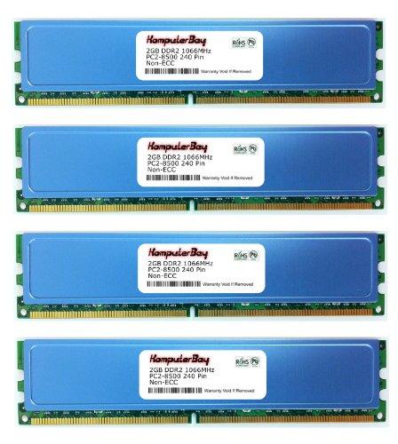 Komputerbay 8GB ( 4 X 2GB ) DDR2 DIMM (240 PIN) AM2 1066Mhz PC2 8500 FOR MSI K9N2 SLI Platinum 8 GB