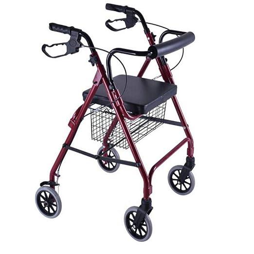MU Andador Plegable Altura Regulable Aluminio Marco para Caminar ...