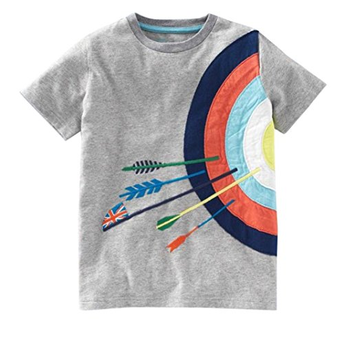 be19d3de9a9a5 Hot Sale!Kstare Baby Boys' Short Sleeve Cartoon Pattern Casual T-Shirt Tops  Tee (4T-5T, Gray)