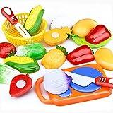 Dreaman 12PC Cutting Fruit Vegetable Pretend Play Children Kid Educational Toy