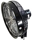 "HydroMist 18"" Shrouded Oscillating Misting Fan with"