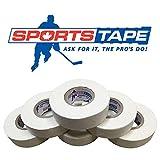 Sports Tape White Hockey Tape, 6 Rolls, 1 Inch