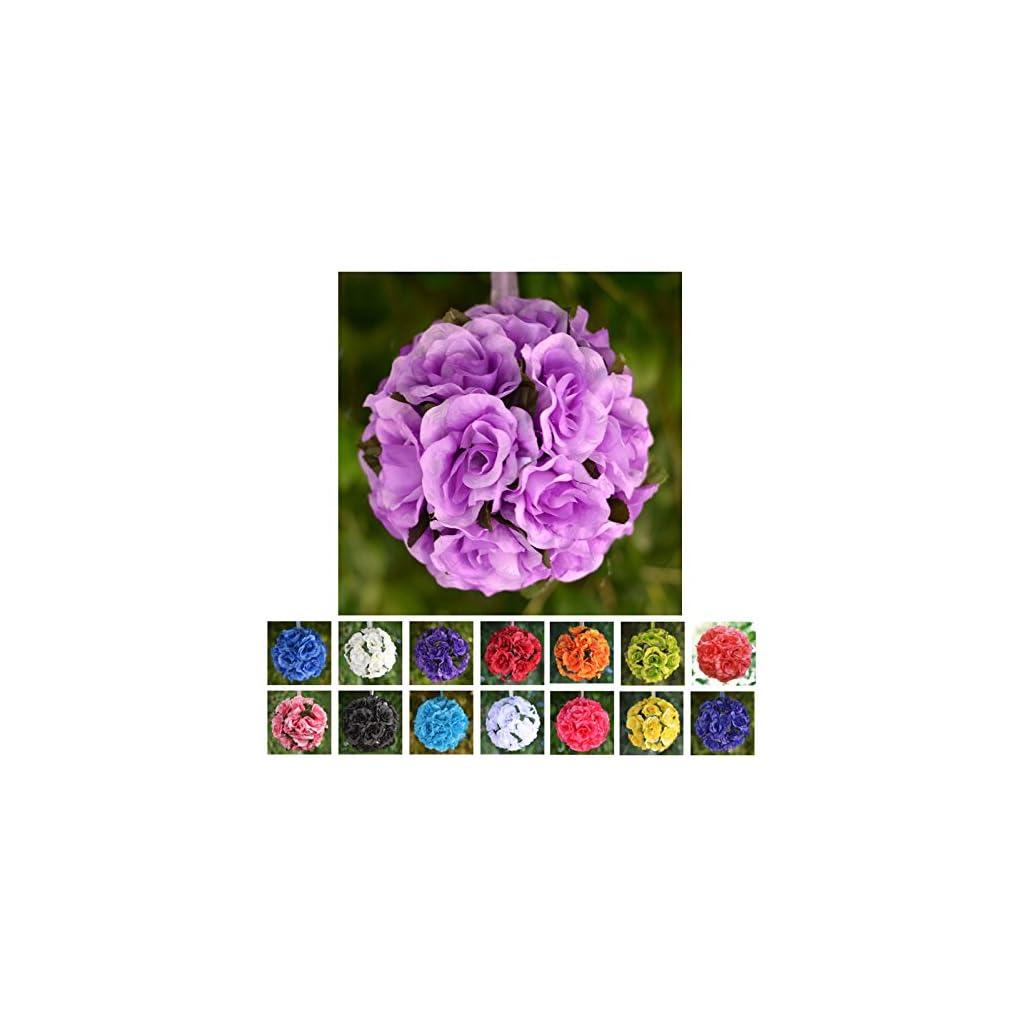 Efavormart-4-PCS-Rose-Pomander-Silk-Flower-Balls-for-Wedding-Party-Event-Home-Decorations