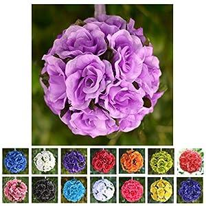 Efavormart 4 PCS Rose Pomander Silk Flower Balls for Wedding Party Event Home Decorations 108