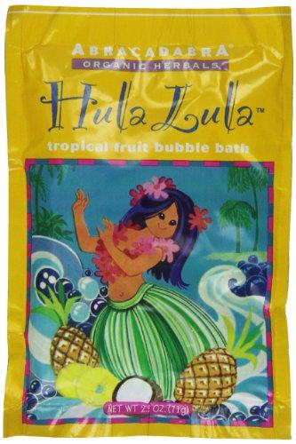 Abracadabra Organic Herbals Bubble Bath, Hula Lula Tropical Fruit, 2.5 Ounce Abracadabra Bath