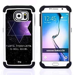 /Skull Market/ - Space Moon For Samsung Galaxy S6 G9200 - 3in1 h????brido prueba de choques de impacto resistente goma Combo pesada cubierta de la caja protec -