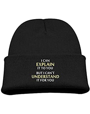 Engineers Motto Kid's Hats Winter Funny Soft Knit Beanie Cap, Unisex