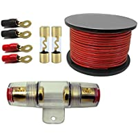 100 Amp Inline AGU Fuse Holder Fits 4 8 10 Gauge Wire with DB Link RT4 4-Gauge Ring Terminal and AGU100 AGC Gold Standard Glass Fuses 100 Amp 12 Volts + 4 Gauge Power20 fT.red)