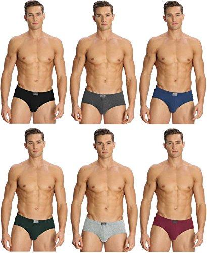 Jockey Men's Cotton Brief (Pack of 6) 8901326115022 8035-ASSTD MULTI COLOUR