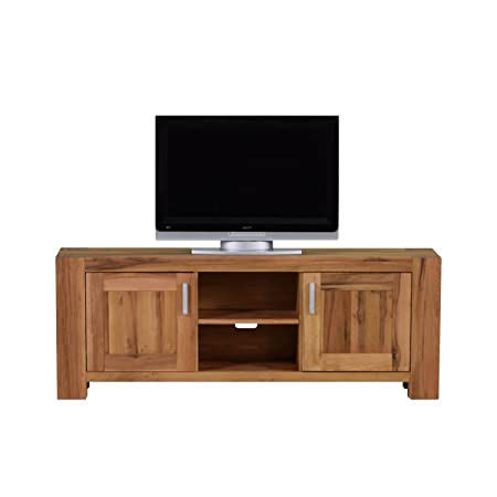 tv lowboard tv bank braxton massivholz holz eiche massiv natur geolt breite 170 cm tiefe 47 cm hohe 64 cm amazon de kuche haushalt