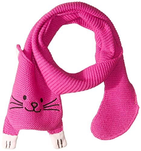 Kidorable Little Girls'  Lucky Cat Scarf, Magenta Pink, One Size ()