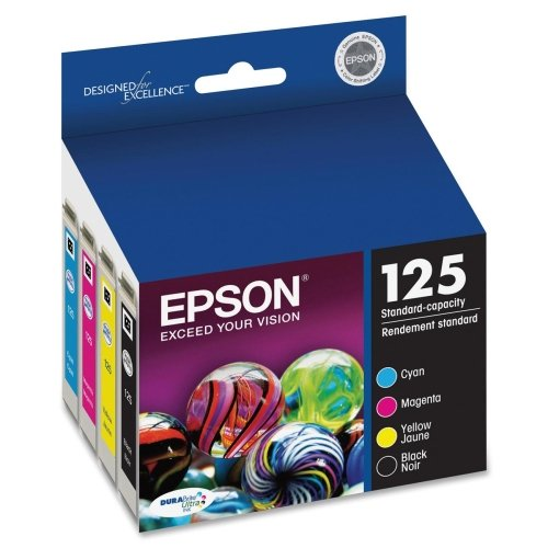 Epson America Inc. Products - Ink Cartridge, Workforce, Assorted - Sold as 1 PK - Ink cartridge is designed for use with Epson Workforce 125, 127, 320, 323, 325, 420, 520, and NX625.