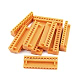 uxcell 10Pcs 300V HT3.96K 3.96mm Pitch 12P PCB Screw Terminal Block Connector Orange