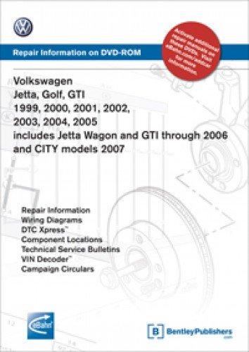 [SCHEMATICS_4NL]  VA45 Volkswagen Jetta Golf GTI 1999-2005 includes Jetta Wagon GTI through  2006 CITY 2007 Repair Manual on DVD-ROM: Amazon.com: Books | 2006 Jetta Wiring Diagram |  | Amazon.com
