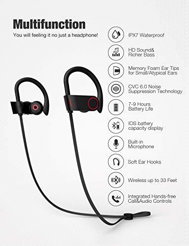 Eartips Earbud Tips for Otium Waterproof Bluetooth Sports Wireless Earbuds