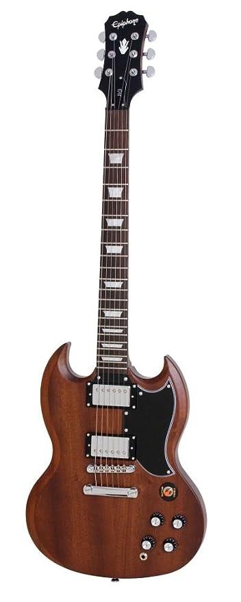 Guitarras eléctricas Epiphone Faded SG G400 Worn Brown doble Cut