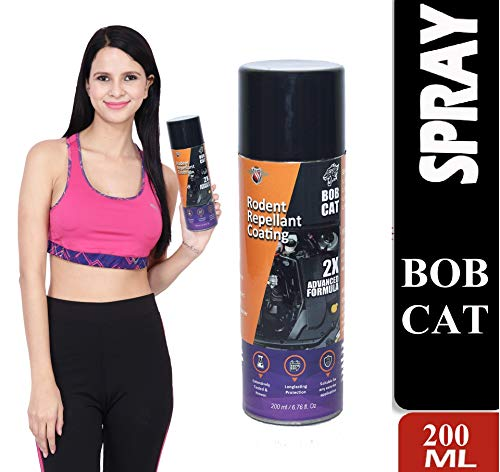 Shadow Innovation Bob CAT No Entry Rat Repellent Spray for Cars Highly Effective with Mask and Gloves Easy to Spray Nozzle 1st time in India
