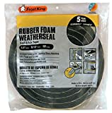 Frost King R930H Sponge Rubber Foam Tape 9/16-Inch, Black