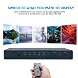 4K@30Hz HDMI Switch 5x1 FiveHome 5 Port HDMI Switcher Support Auto Switch with IR Remote, HDCP 1.4,Full HD/3D