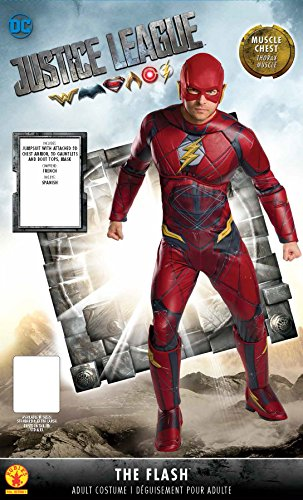 Mens Justice League Flash Gloves Rubies Costume Co