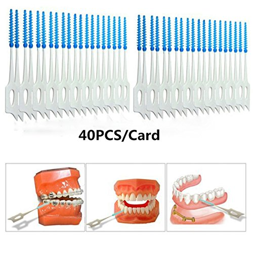 Bbshop 40pcs/card Soft Plastic Massage Gums Gingival Interdental Brush Massage Toothpick Toothbrush Floss Dental Flosser Pick Tooth Clean Tool