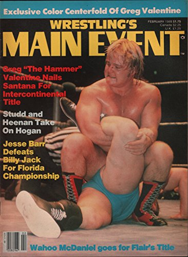 Wrestling's Main Event February 1985 Greg Valentine, for sale  Delivered anywhere in USA