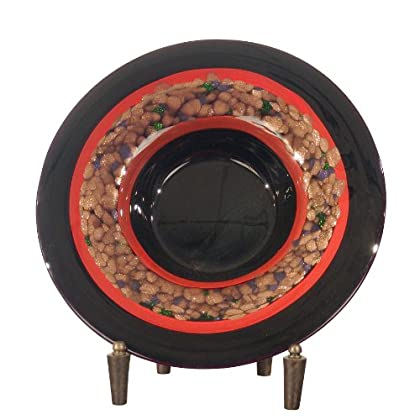 Image of Dale Tiffany PG60110 Ebony Decorative Charger Plate with Stand, 15-Inch Diameter Charger & Service Plates