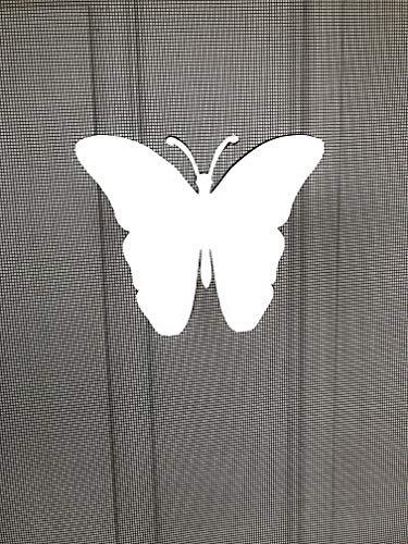 DCentral Butterfly Screen Magnet Decor; Multipurpose, Double-Sided, for Non-Retractable Screens, Helps to Stop Walking into Screens, for Non-Retractable Screens, Size W 4.5' x L 5.5'