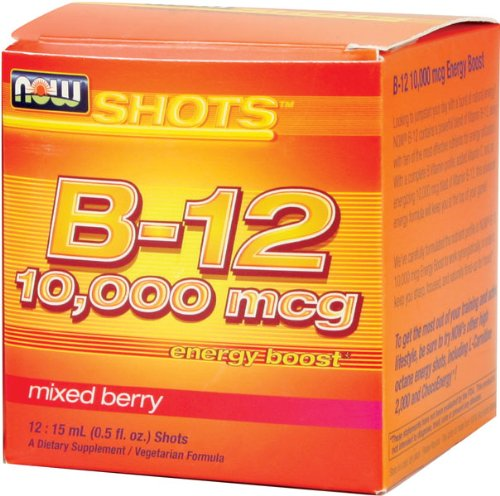 NOW Foods B-12 10 000 mcg Tirs Box Chef d'accusation 12