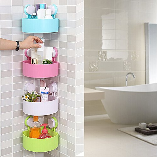 Bathroom wall corner shelves