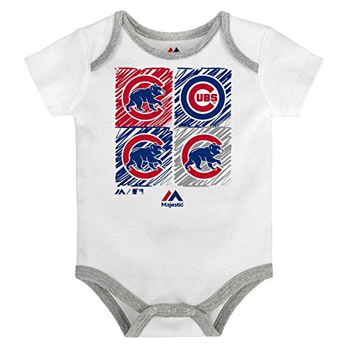 Cubs Chicago Onesie (Chicago Cubs Infant Onesie Size 24 Months Bodysuit Creeper White)