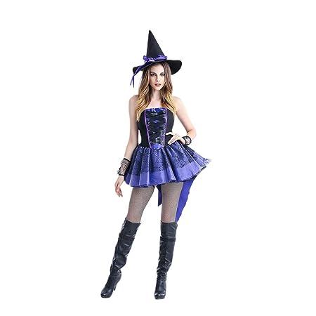 Huwaioury - Vestido de tutú sin mangas, para Halloween, para mujer ...