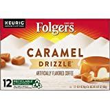 Folgers Caramel Drizzle Flavored Coffee, K-Cup Pods for Keurig K-Cup Brewers, 12-Count (Pack of 6), Packaging May Vary