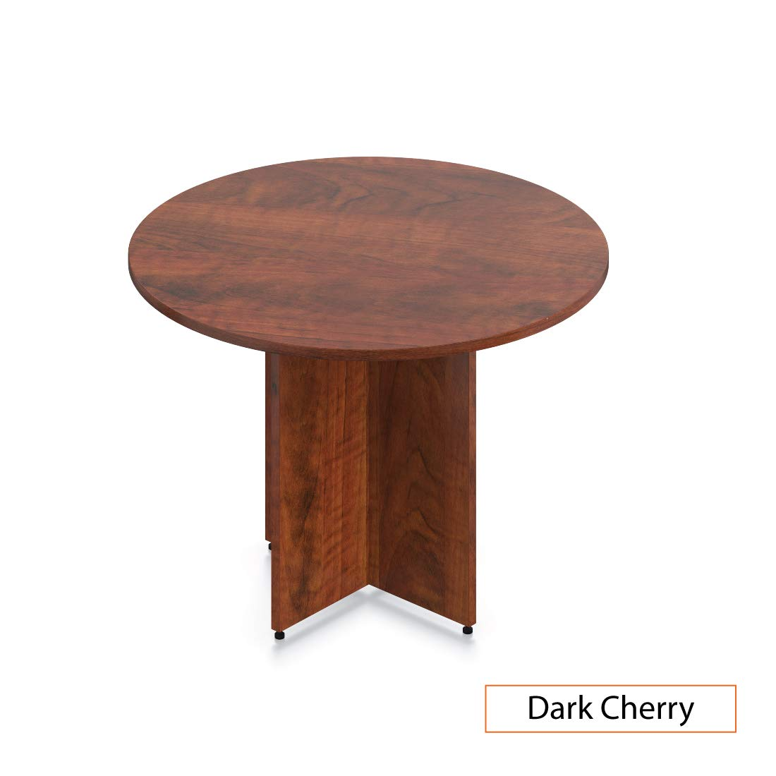 GOF 42'' Office Round Conference Table, Dark Cherry by GOF