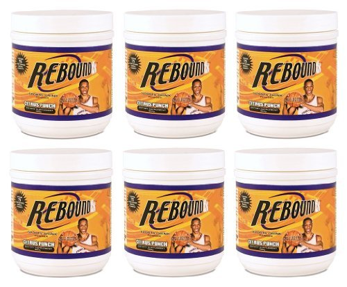 6 Pack 360g Canisters Rebound FX Citrus Punch Youngevity Sports Endurance Drink (Ships Worldwide)